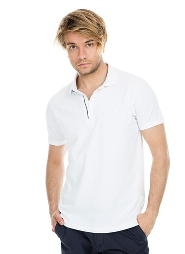Five Pocket Five Pocket 8048 Polo Yaka Kısa Kol Erkek Tshirt Beyaz